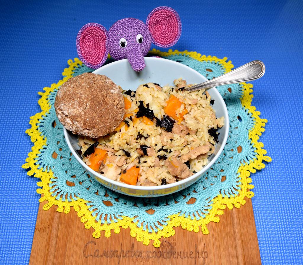 Рис с соей, морковкой и цветной капустой